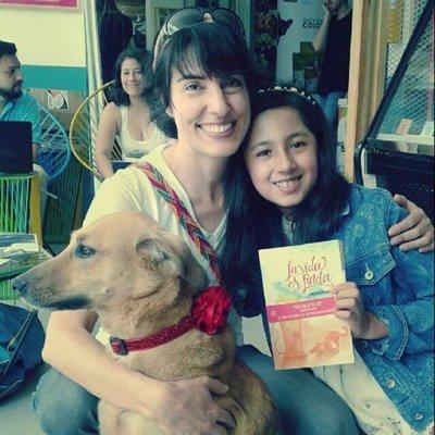 Con Aleja, una de mis lectoras